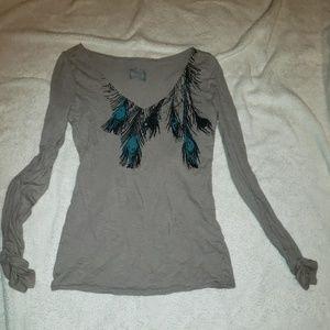 Peacock long sleeve shirt